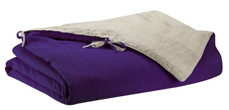 housse de couette en lin stonewashed z phyr violette 240x220 linge de maison. Black Bedroom Furniture Sets. Home Design Ideas