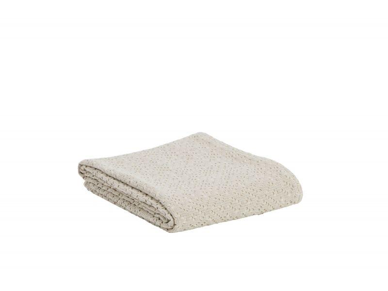 jet de lit ad le stonewashed blanc 240x260 linge de maison. Black Bedroom Furniture Sets. Home Design Ideas