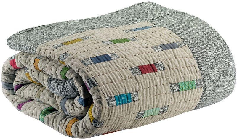 jet de lit aouro multico 220x220 linge de maison. Black Bedroom Furniture Sets. Home Design Ideas