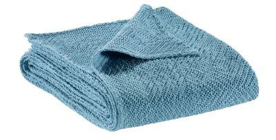 jet de lit ava bleu pastel coton stonewashed 260x260 linge de maison. Black Bedroom Furniture Sets. Home Design Ideas