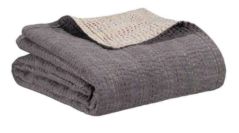 jet de lit gastounet castor coton 240x260 linge de maison. Black Bedroom Furniture Sets. Home Design Ideas