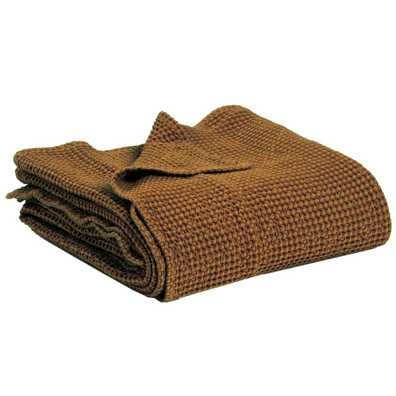 jet de lit maia havane coton 260x260 vivaraise. Black Bedroom Furniture Sets. Home Design Ideas