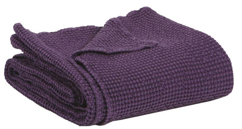 jet de lit ma a stonewashed violet 260x260 linge de maison. Black Bedroom Furniture Sets. Home Design Ideas