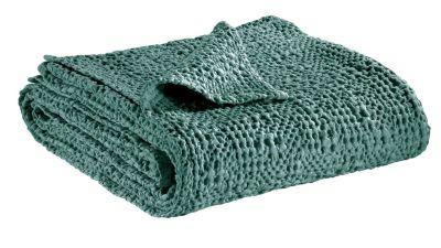 jet de lit tana vert de gris coton stonewashed 260x260 linge de maison. Black Bedroom Furniture Sets. Home Design Ideas
