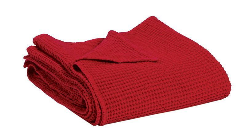 jet de lit coton maia stonewashed tango 240x260 vivaraise. Black Bedroom Furniture Sets. Home Design Ideas