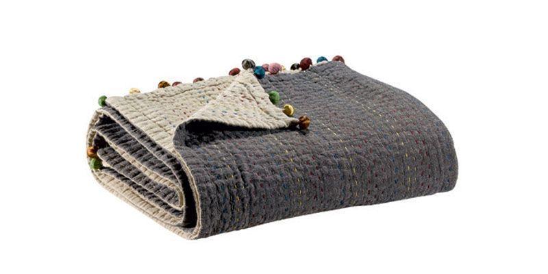 plaid gastounet castor coton 140x200 vivaraise. Black Bedroom Furniture Sets. Home Design Ideas