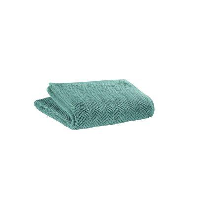 serviette toilette coton roberto vert de gris 50x100 vivaraise. Black Bedroom Furniture Sets. Home Design Ideas