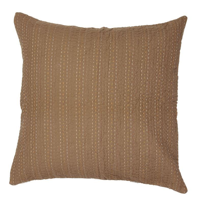 taie d 39 oreiller gastounet unie ambre 65x65 linge de maison. Black Bedroom Furniture Sets. Home Design Ideas