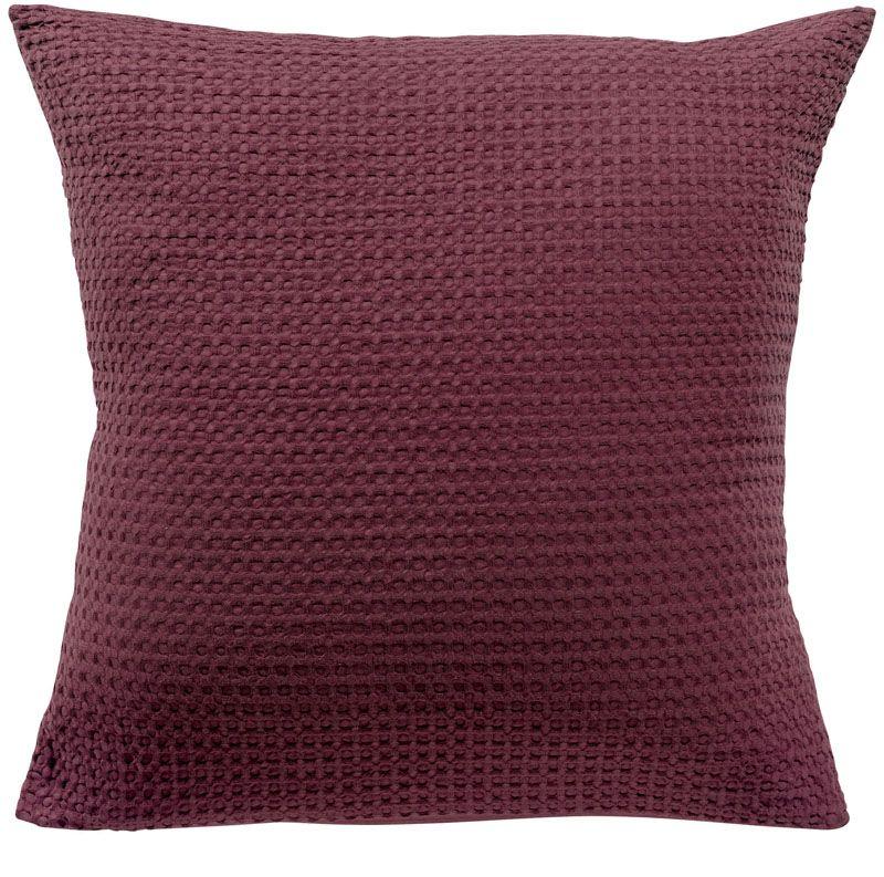 taie d 39 oreiller phebus bordeaux 80x80 vivaraise. Black Bedroom Furniture Sets. Home Design Ideas