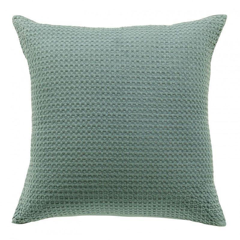 taie d 39 oreiller ph bus stonewashed vert de gris 50x75 linge de maison. Black Bedroom Furniture Sets. Home Design Ideas