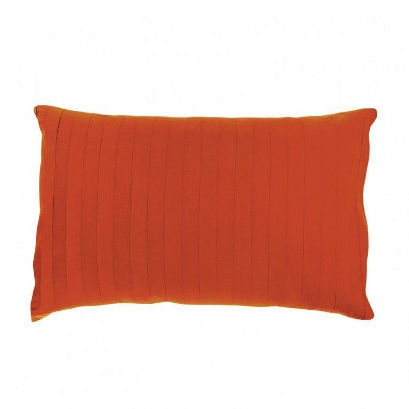 taie d 39 oreiller stonewashed bernie mandarine 50x75 linge de maison. Black Bedroom Furniture Sets. Home Design Ideas