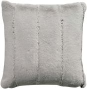 Coussin Asha fausse fourure polyester coloris gris perle 45x45 - Winkler