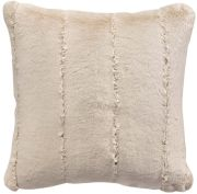 Coussin Asha fausse fourure polyester coloris lin 45x45 - Winkler