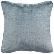Coussin Heta fausse fourure polyester coloris gris Ombre 45x45 - Winkler
