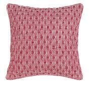 Coussin Mooréa rouge framboise broderies ethniques coton 45x45 - Winkler