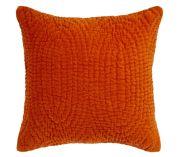 coussin velours orange tous les objets de d coration sur elle maison. Black Bedroom Furniture Sets. Home Design Ideas