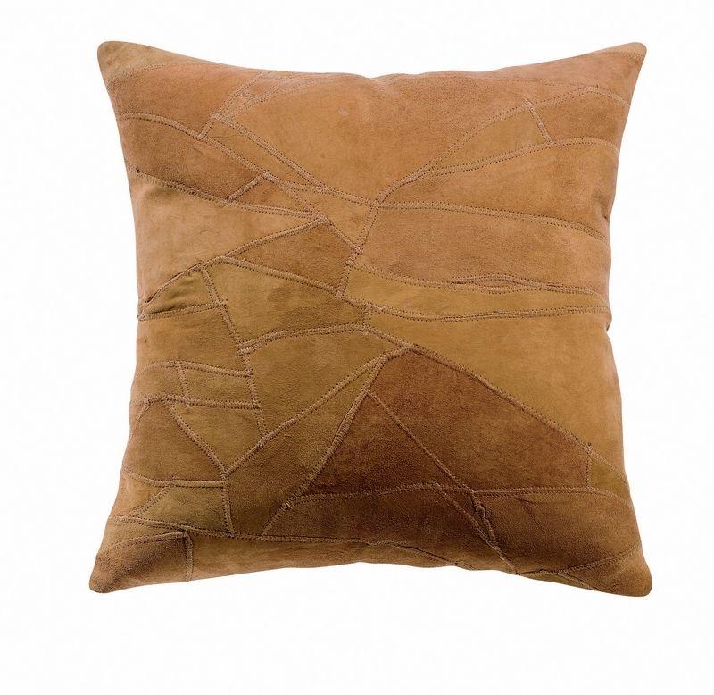 coussin cuir spots 45x45 marron d coration. Black Bedroom Furniture Sets. Home Design Ideas