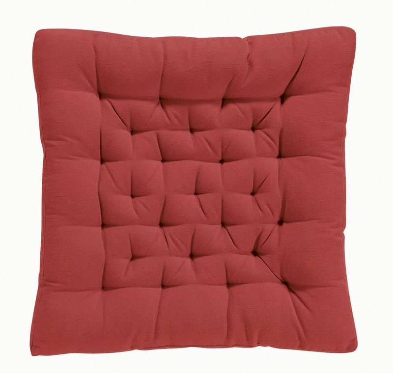 coussin de chaise coton rouge d coration. Black Bedroom Furniture Sets. Home Design Ideas