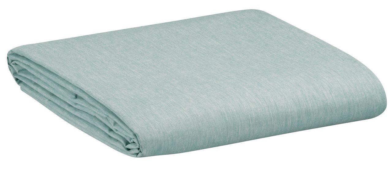 drap housse moony coton peign uni vert lichen 180x200. Black Bedroom Furniture Sets. Home Design Ideas