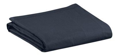 drap housse noche uni gris fonc ombre percale 140x190 linge de maison. Black Bedroom Furniture Sets. Home Design Ideas