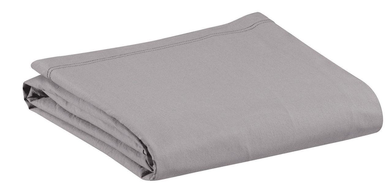 drap housse noche uni gris perle percale 90x190 winkler. Black Bedroom Furniture Sets. Home Design Ideas