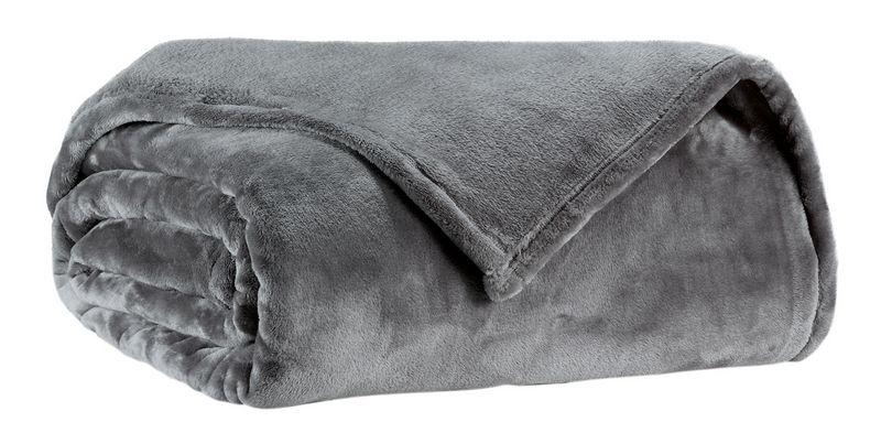 jet de lit microfibre tender 230x250 gris winkler. Black Bedroom Furniture Sets. Home Design Ideas
