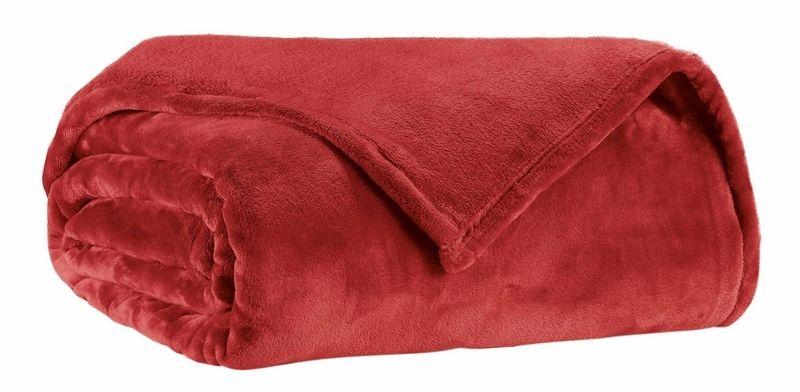 jet de lit microfibre tender 230x250 rouge linge de maison. Black Bedroom Furniture Sets. Home Design Ideas