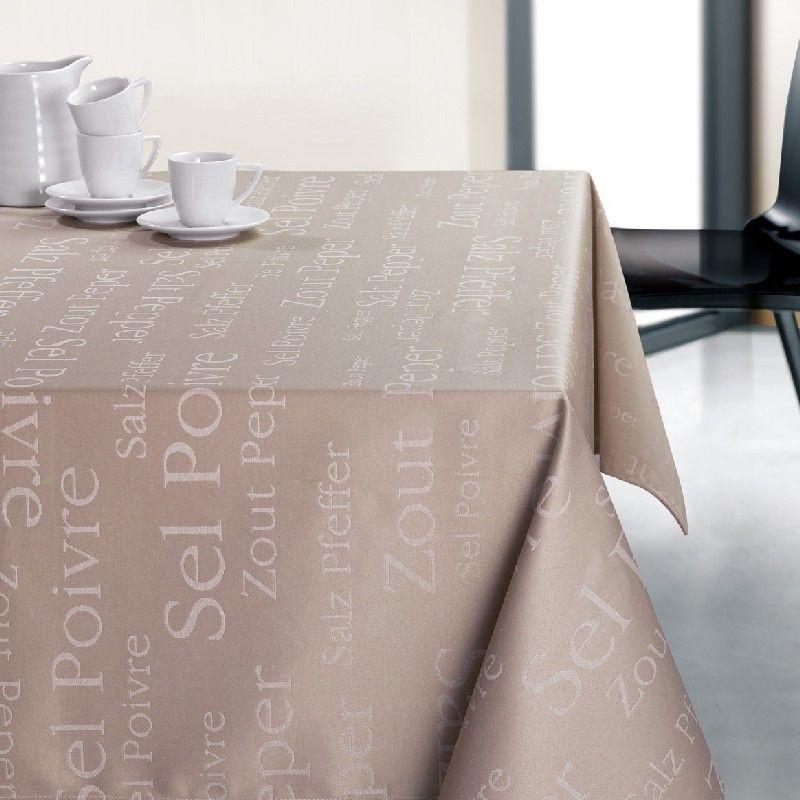 nappe enduite sel poivre ficelle 150x150 linge de maison. Black Bedroom Furniture Sets. Home Design Ideas