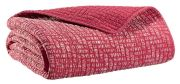 Plaid Sadi rouge coton 140x180 - Winkler