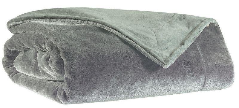 plaid imitation fourrure teddy gris clair 140x180 winkler. Black Bedroom Furniture Sets. Home Design Ideas