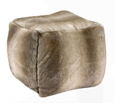 pouf love naturel fausse fourrure acrylique coloris naturel 40x40x40 mobilier. Black Bedroom Furniture Sets. Home Design Ideas