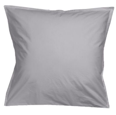 Taie d'oreiller Noche uni gris perle percale 65x65 - Winkler