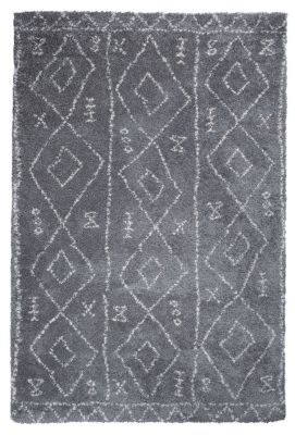 tapis tunis motifs ethniques polypropyl ne coloris gris 160x230 d coration. Black Bedroom Furniture Sets. Home Design Ideas