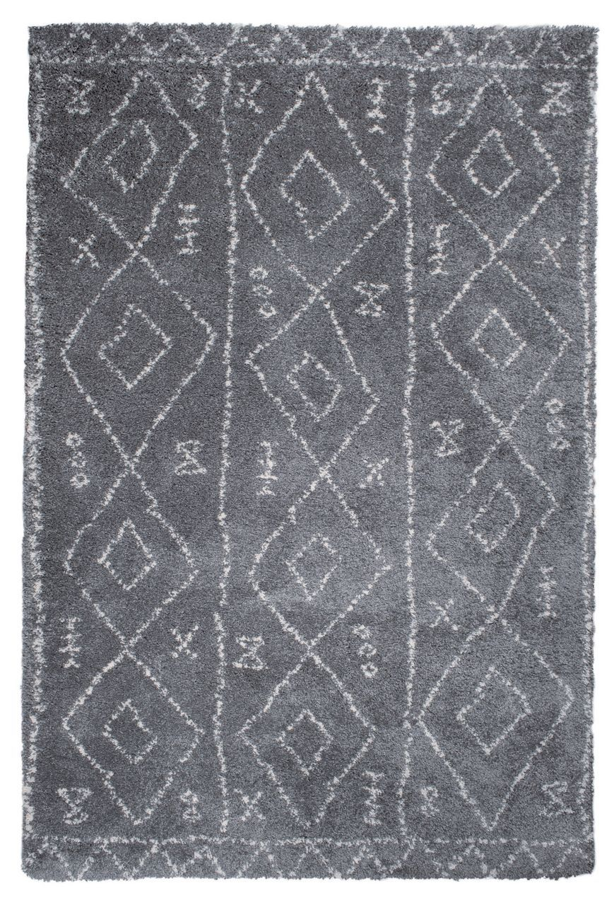 tapis tunis motifs ethniques polypropyl ne coloris gris 160x230. Black Bedroom Furniture Sets. Home Design Ideas