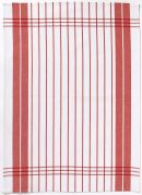 Torchon Petites Rayures coton rouge 50x70 - Winkler