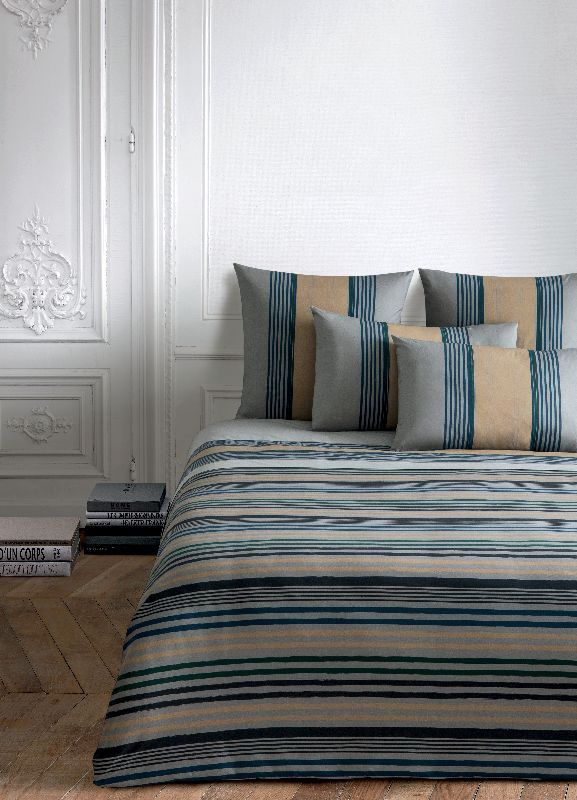 drap housse percale rue de seine gris 90x190. Black Bedroom Furniture Sets. Home Design Ideas