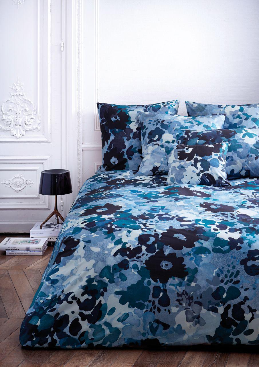 drap plat percale bise bleu c leste 180x290 sonia rykiel linge de maison. Black Bedroom Furniture Sets. Home Design Ideas
