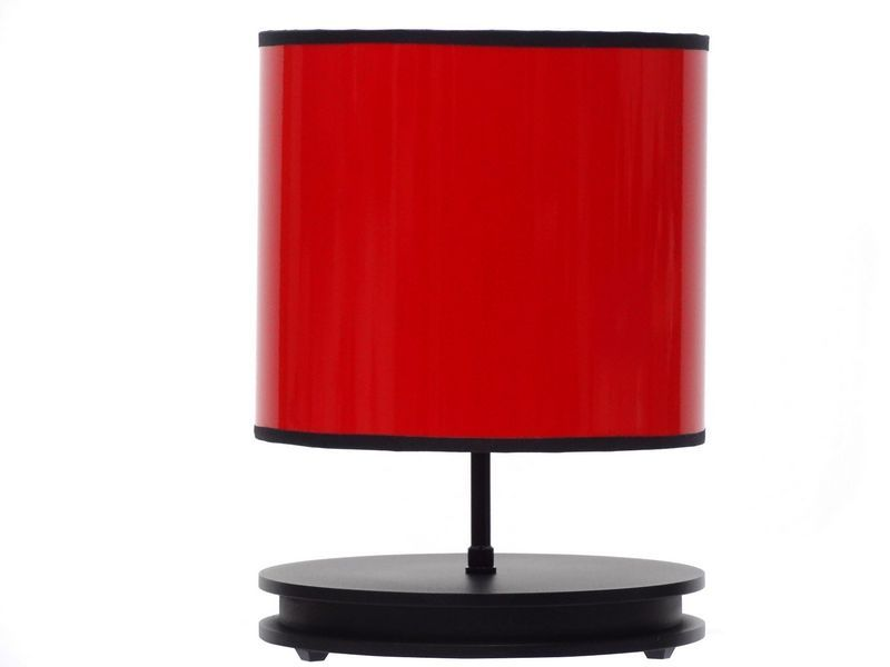 lampe poser rouge ronde luminaires. Black Bedroom Furniture Sets. Home Design Ideas