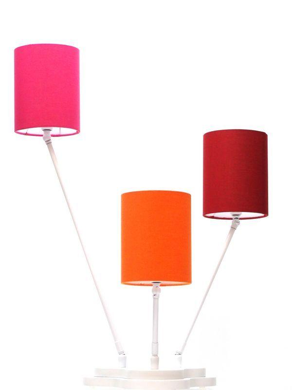 lampe poser tricolore 3 clairages ronde. Black Bedroom Furniture Sets. Home Design Ideas