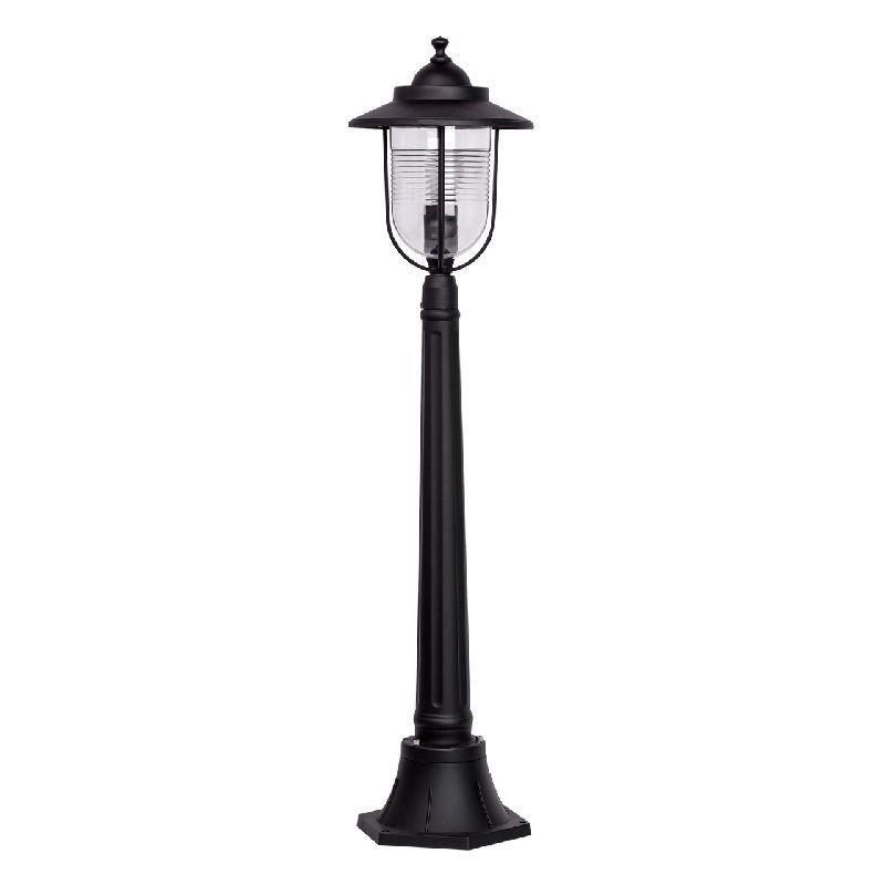 Lampadaire d 39 ext rieur m tal noir style urbain ht 107 cm for Lanterne exterieur sur pied