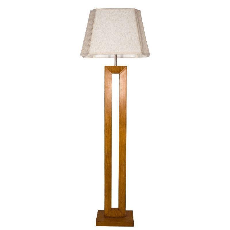 Lampadaire design rectangle bois MDF abatjour beige  MW  ~ Lampadaire Bois Design