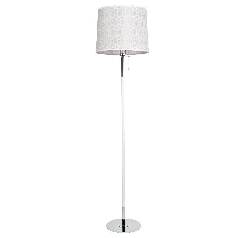lampadaire m tal abat jour blanc motif bulles luminaires. Black Bedroom Furniture Sets. Home Design Ideas