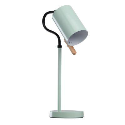 Lampe De Bureau Metal Vert Pastel Laque Decor Bois Luminaires
