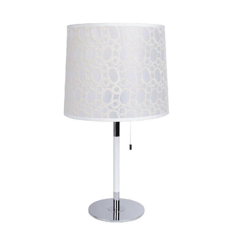 Lampe de chevet m tal abat jour blanc motif bulles mw light - Lampe de chevet blanc ...