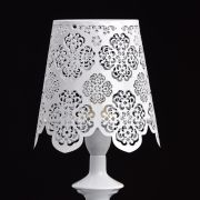 Lampe de table Elegance Métal Blanc Dentelle - MW-Light