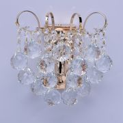Lustre Crystal Métal Or bulles cristal h15 - MW-Light
