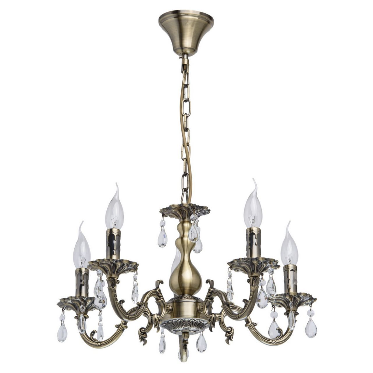lustre baroque m tal laiton antique pampilles effet. Black Bedroom Furniture Sets. Home Design Ideas
