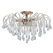 Plafonnier Crystal Métal Or - MW-Light
