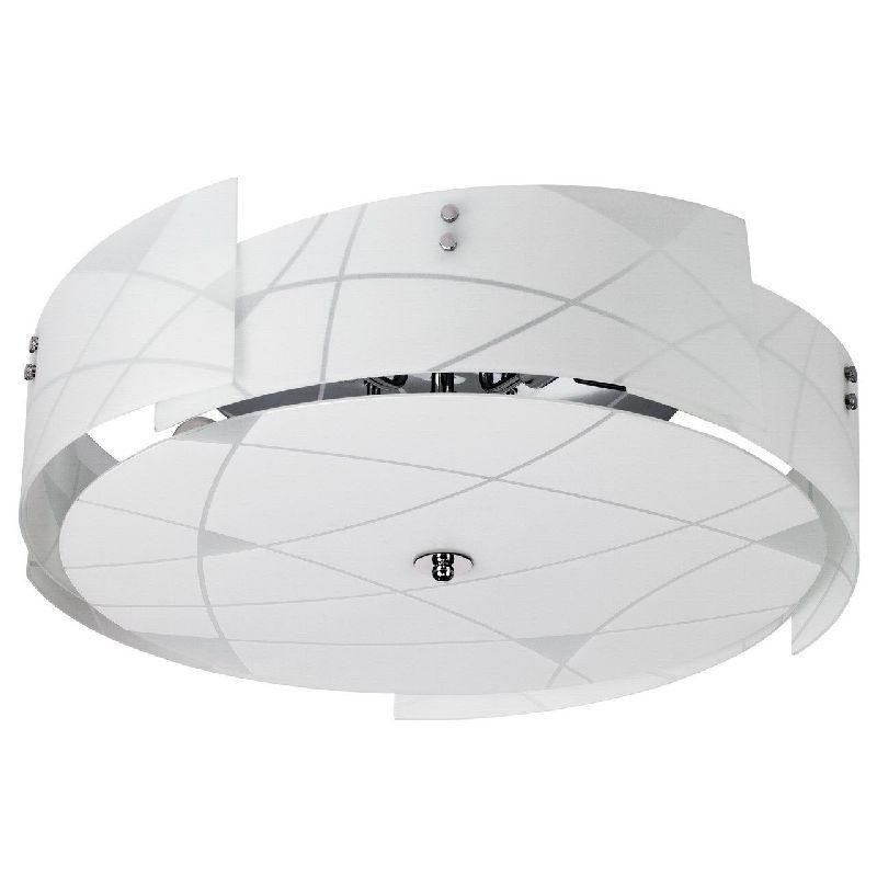 plafonnier design destructur m tal et verre blanc 5 clairages luminaires. Black Bedroom Furniture Sets. Home Design Ideas
