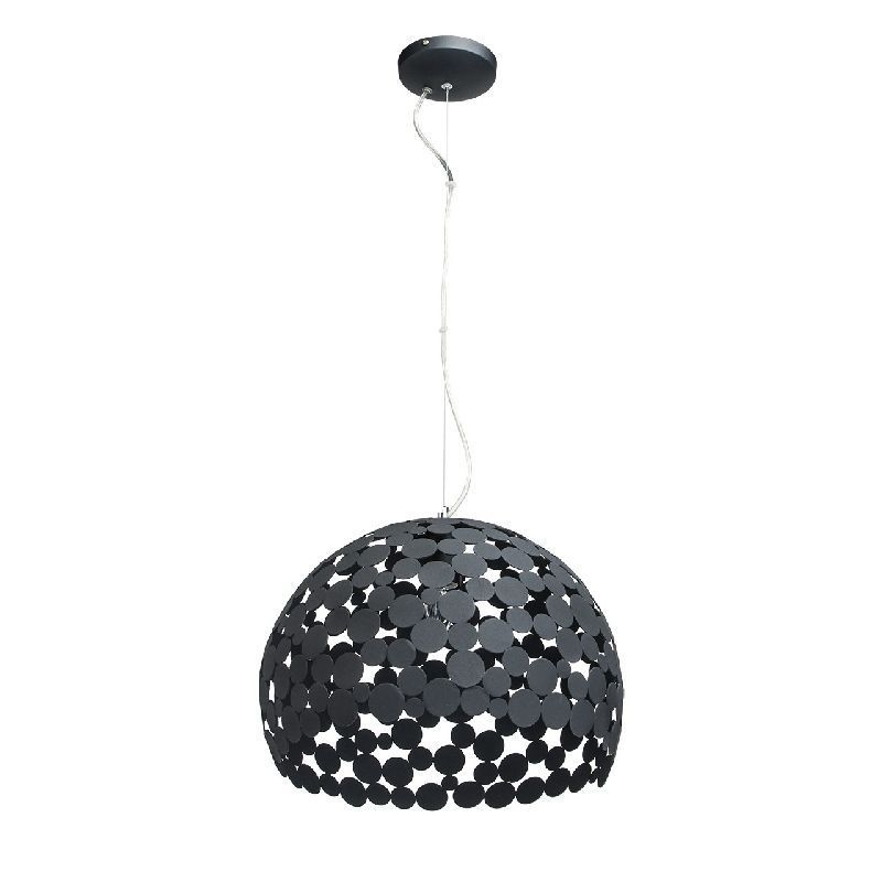 suspension m tal noir abat jour design pois mw light